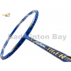 30% OFF Abroz Shark Tiger Badminton Racket (6U)  Strung with Blue Abroz DG67 Power String @ 27 lbs Slight Paint Scratch On Frame (refer picture)