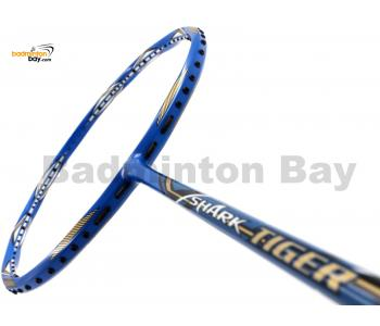 30% OFF Abroz Shark Tiger Badminton Racket (6U) Strung with White Abroz DG67 Power String @ 26 lbs Slight Scratch (Refer picture)
