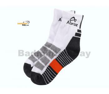 Abroz Badminton Sports Socks SC120 Dark Grey Orange (1 pair)