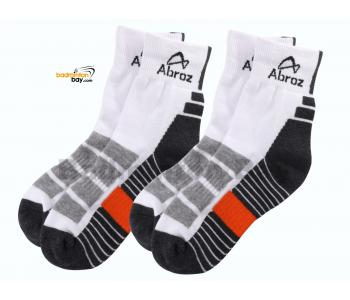 Abroz Badminton Sports Socks SC120 Dark Grey Orange (2 pairs)