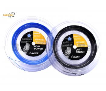 Abroz DG67 Power 200-meter (Black & Blue) Badminton String (0.67mm) In Coil (2 Rolls)