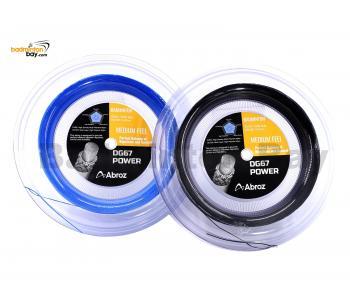 Abroz DG67 Power 200-meter (Black & Blue) Badminton String (0.67mm) In Coil (2 Rolls)