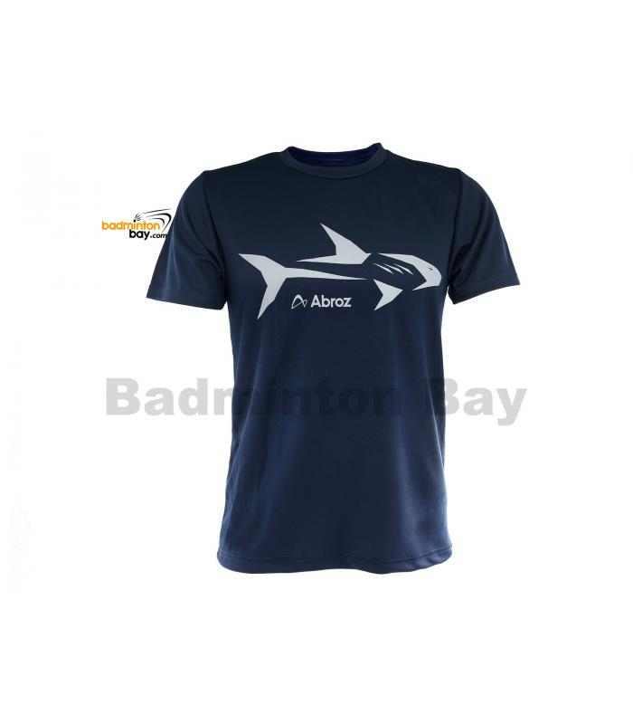 Abroz Round Neck Shark A002 Navy Blue T-Shirt Dry Fast Sports Jersey