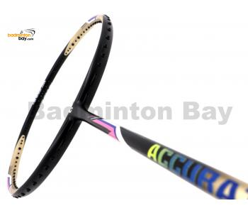 Apacs Accurate 77 Gold Black Matte Badminton Racket (4U)