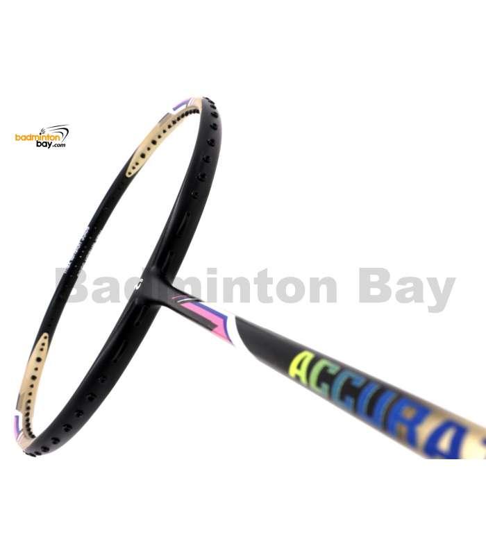 Apacs Accurate 77 Gold Black Matte Badminton Racket (4U)