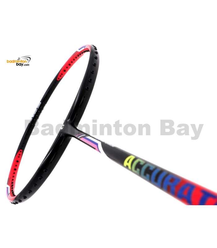 Apacs Accurate 77 Red Black Matte Badminton Racket (4U)