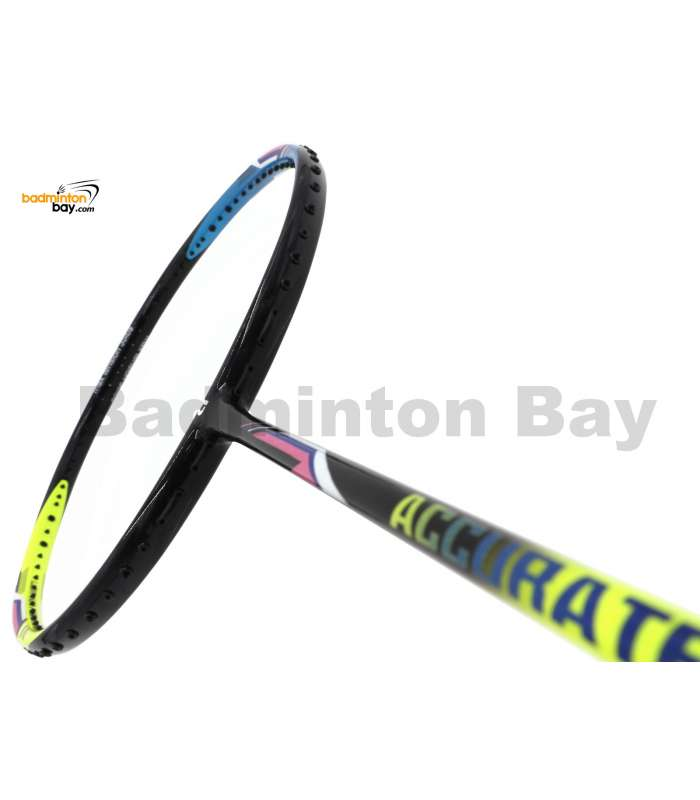 Apacs Accurate 77 Yellow Blue Glossy Badminton Racket (4U)