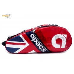 Apacs 2 Compartments Padded Badminton Racket Bag AP2513 Red