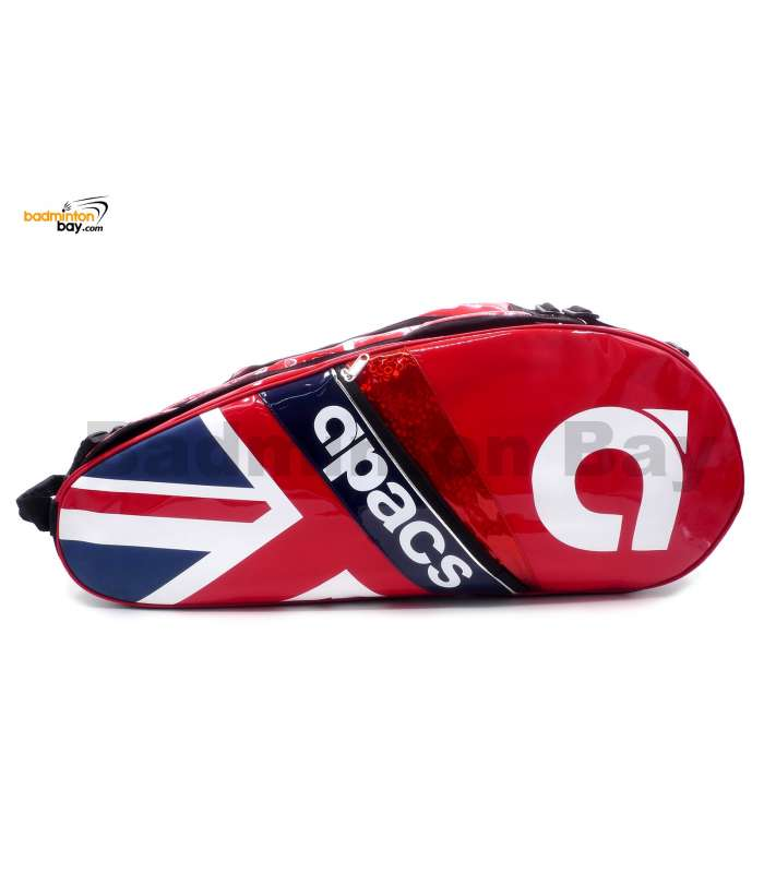 Apacs 2 Compartments Padded Badminton Racket Bag AP2513 Red