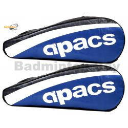 2 pieces Apacs 2 Compartments Padded Badminton Racket Bag AP2520 Blue