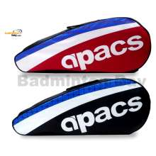 2 pieces Apacs 2 Compartments Padded Badminton Racket Bag AP2520 ( Red and Black )