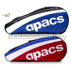 2 pieces Apacs 2 Compartments Padded Badminton Racket Bag AP2520 ( Red and Blue )