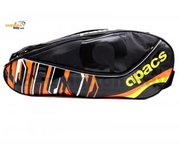 Apacs 2 Compartments Padded Badminton Racket Bag AP2528 Black Orange
