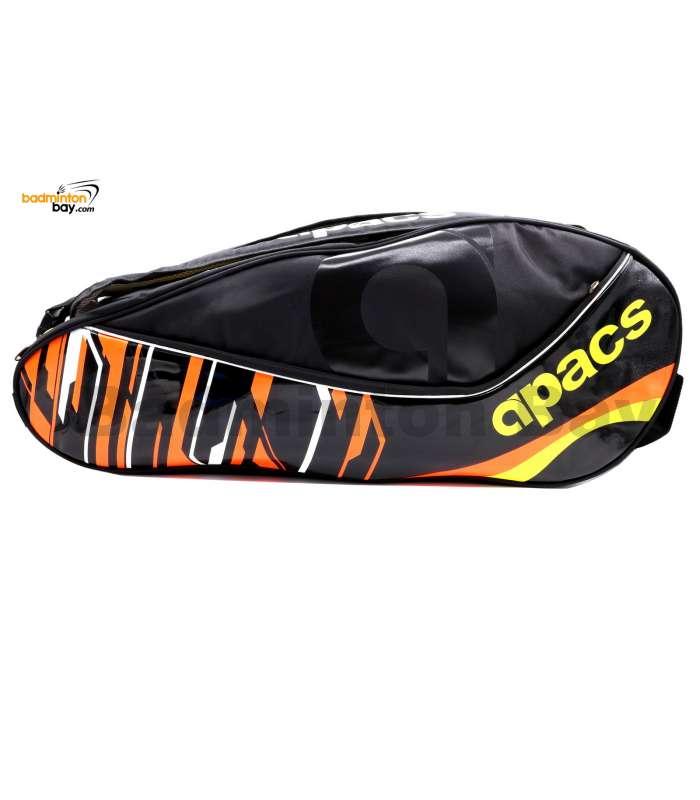 Apacs 2 Compartments Padded Badminton Racket Bag AP2528 Black Orange