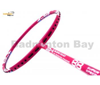 25% OFF Apacs Blend Duo 88 Pink Badminton Racket (6U) Strung with Blue Abroz DG67 Power String @ 22 lbs