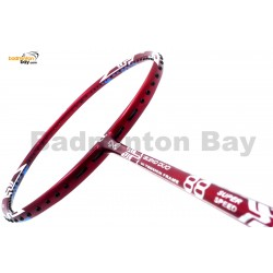 25% OFF Apacs Blend Duo 88 Red Badminton Racket (6U) Strung with White Abroz DG67 Power String at 23 lbs