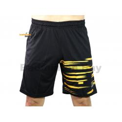 Apacs Dri-Fast Quick Dry Sport Shorts Pants BSH105 Black Gold With 2 Pockets
