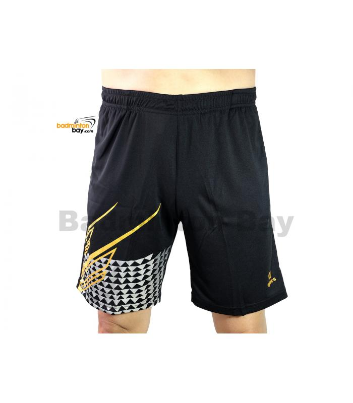 Apacs Dri-Fast Quick Dry Sport Shorts Pants BSH106 Silver Gold With 2 Pockets