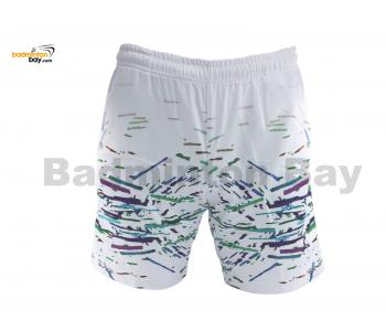 Apacs Dri-Fast Quick Dry Sport Shorts Pants BSH113 White With 2 Pockets