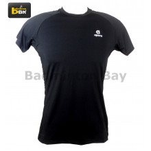 Apacs Men's AP02 Short Sleeve Bio Compression Sports Undershirt T-Shirt Black