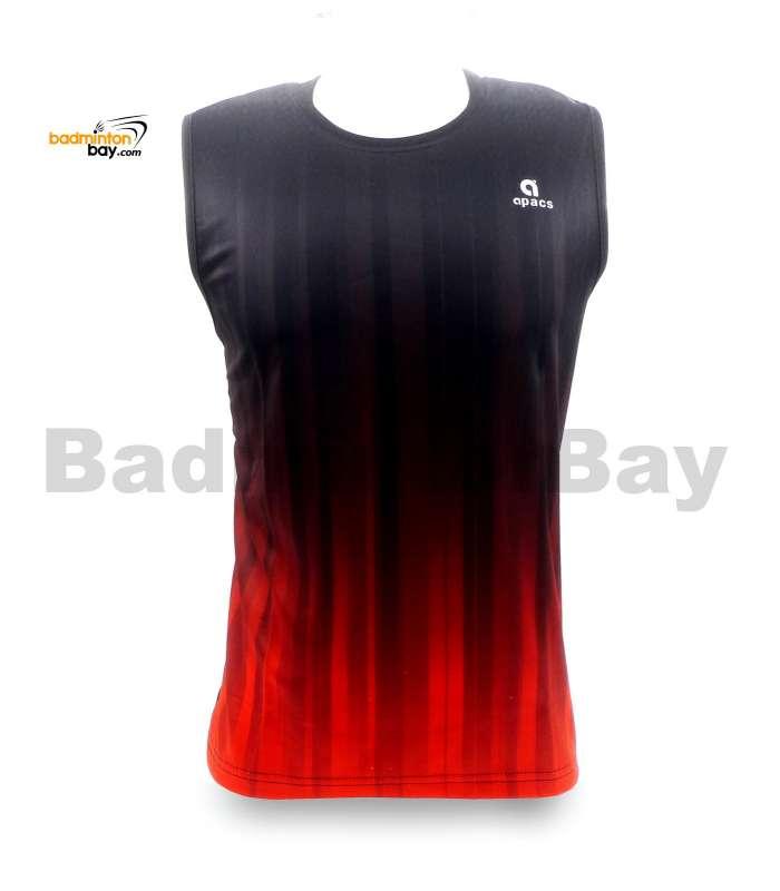 Apacs Sleeveless Dri-Fast AP-10050 Shirt Jersey Black Orange