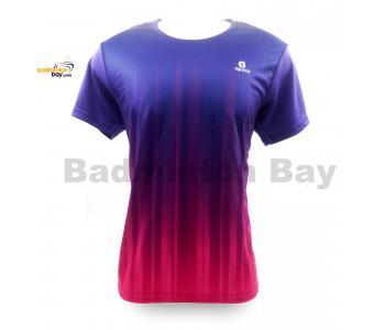 Apacs Dri-Fast AP-10083 Purple Pink T-Shirt Quick Dry Sports Jersey