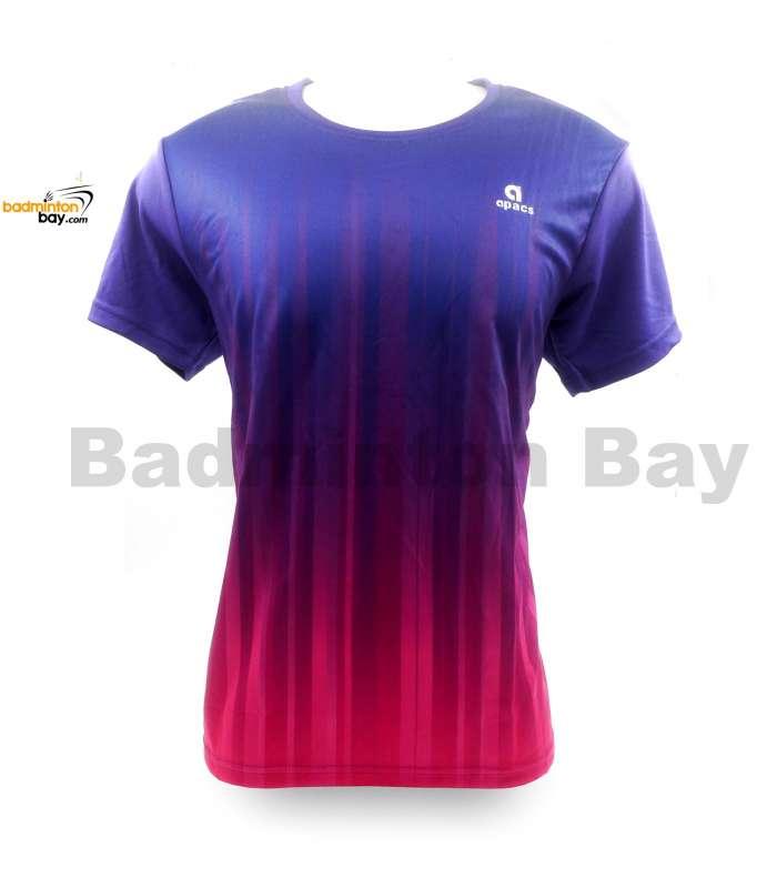 Apacs Dri-Fast AP-10083 Purple Pink T-Shirt Jersey