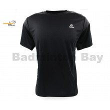Apacs Dri-Fast AP-10095 Black T-Shirt Quick Dry Sports Jersey