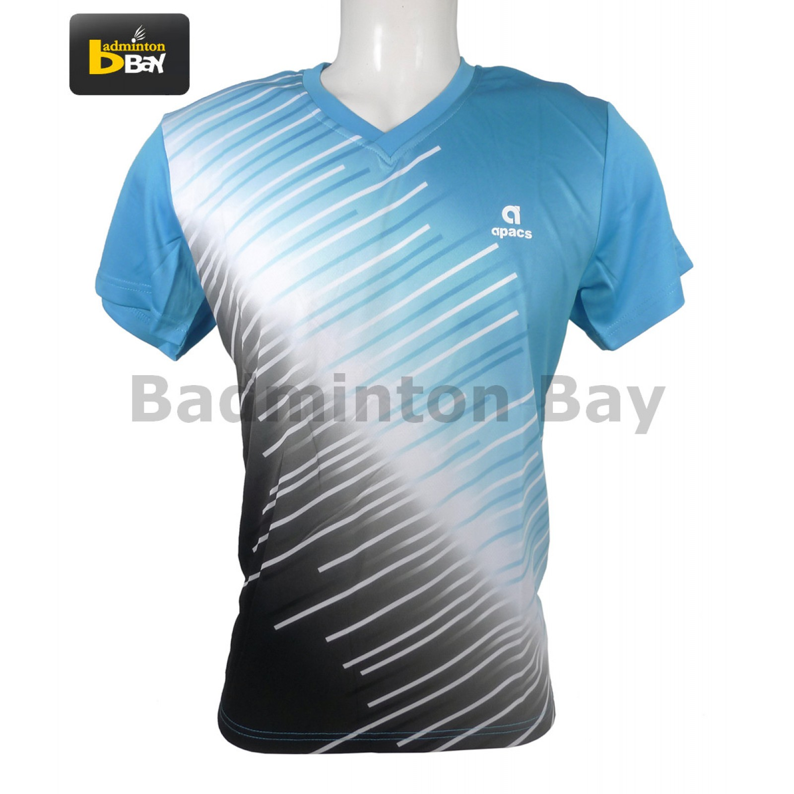 Design t shirt badminton - Apacs Dri Fast Ap 3212 Blue Junior T Shirt Jersey Smaller Sizes From 3xs Xs