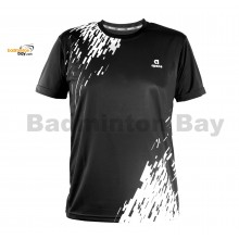 Apacs Dri-Fast AP-3257 Black T-Shirt Quick Dry Sports Jersey