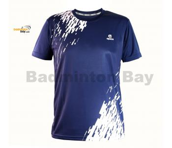 Apacs Dri-Fast AP-3257 Navy Blue T-Shirt Quick Dry Sports Jersey