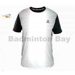 Apacs Dri-Fast AP-3258 White Black T-Shirt Quick Dry Sports Jersey