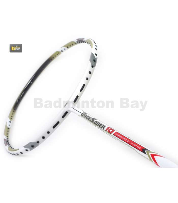 ~ Out of stock  Apacs EdgeSaber 10 White Badminton Racket (4U)
