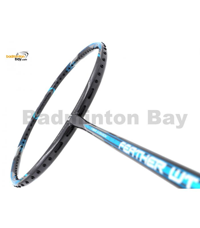 Apacs Feather Weight 55 Grey Blue Badminton Racket (8U) Worlds Lightest Badminton Racket