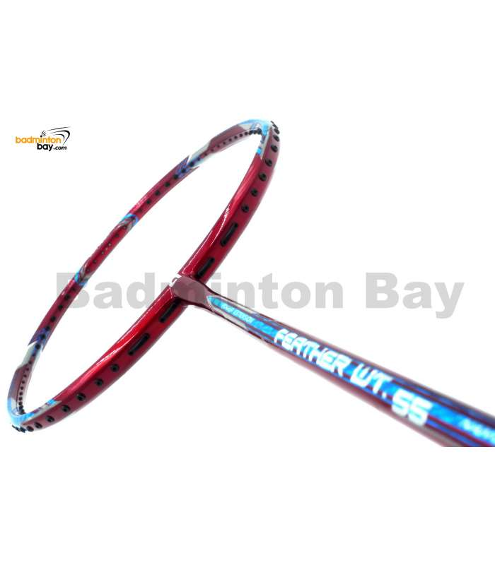 Apacs Feather Weight 55 Red Badminton Racket (8U) Worlds Lightest Badminton Racket