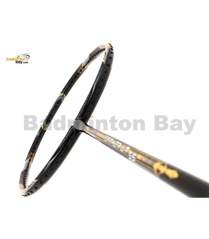 Apacs Feather Weight 55 Black Gold Badminton Racket (8U) Worlds Lightest Badminton Racket