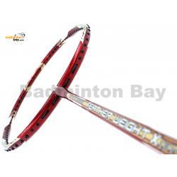 Apacs Feather Weight X II Red Gold Badminton Racket (8U) Worlds Lightest Badminton Racket