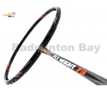 Apacs Flyweight 73 Black Orange Badminton Racket 7U (World Slimmest Badminton Shaft)