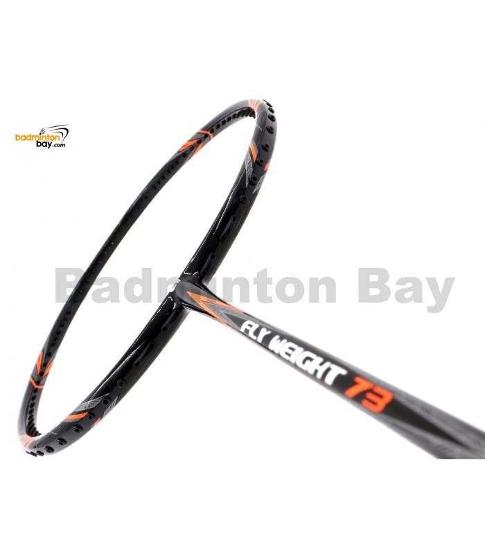 Apacs Flyweight 73 Black Orange Badminton Racket 7U (World Slimmest Badminton Shaft)