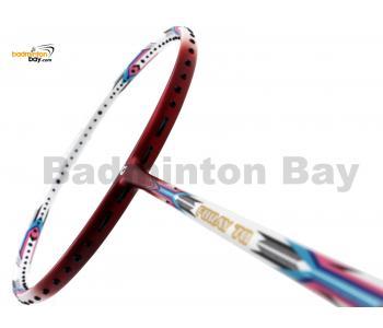 Apacs Foray 70 White Red Matte Badminton Racket (4U)