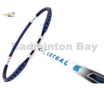Apacs Lethal 6 White Blue Badminton Racket (5U)