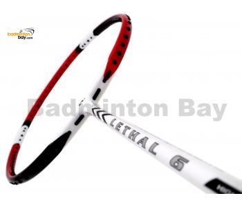 Apacs Lethal 6 White Red Badminton Racket (5U)