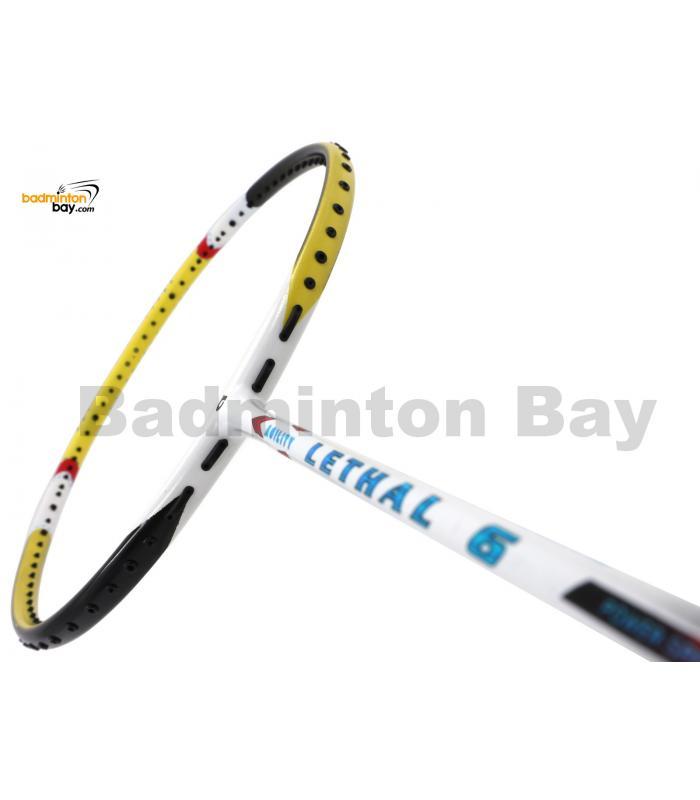 Apacs Lethal 6 White Yellow Badminton Racket (5U)
