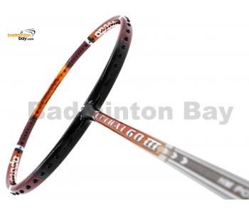 Apacs Lethal 60 III Black Orange Glossy Badminton Racket (4U)