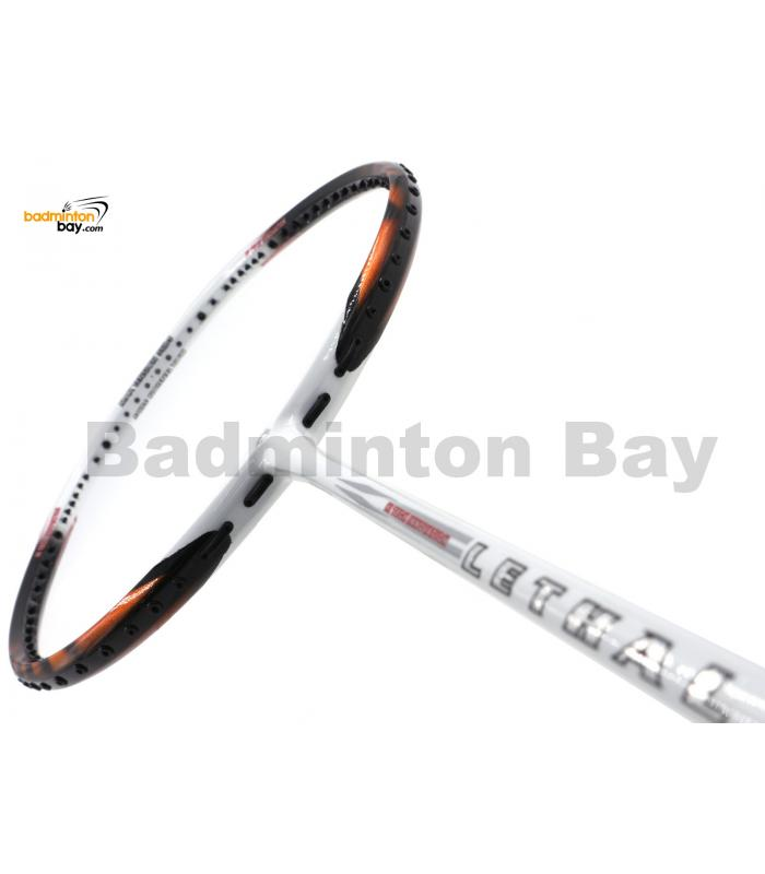 Apacs Lethal 9 White Orange Badminton Racket (4U)