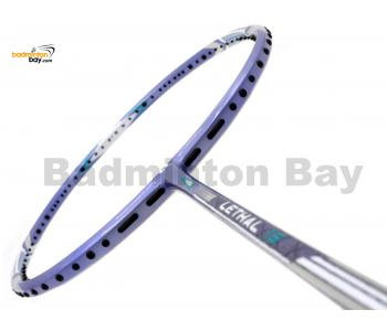 20% OFF Apacs Lethal 15 Violet Badminton Racket (5U-G1) Strung with White Abroz DG67 Power String @ 23/24 lbs Slight Paint Defect (Refer Picture)