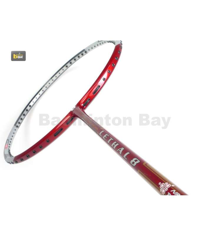~Out of stock Apacs Lethal 8 Silver Red (4U) Badminton Racket