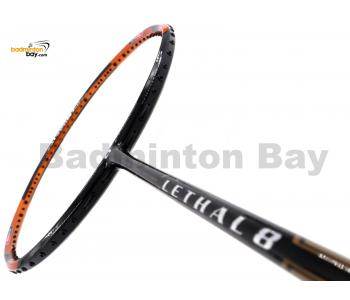 Apacs Lethal 8 Black Orange (4U) Badminton Racket
