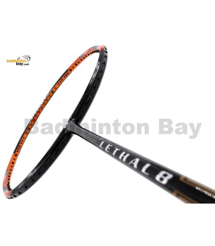 Apacs Lethal 8 Black Orange (4U) Badminton Racket
