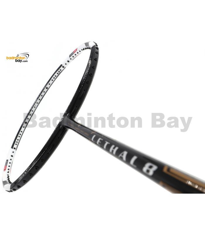Apacs Lethal 8 Black White (4U) Badminton Racket